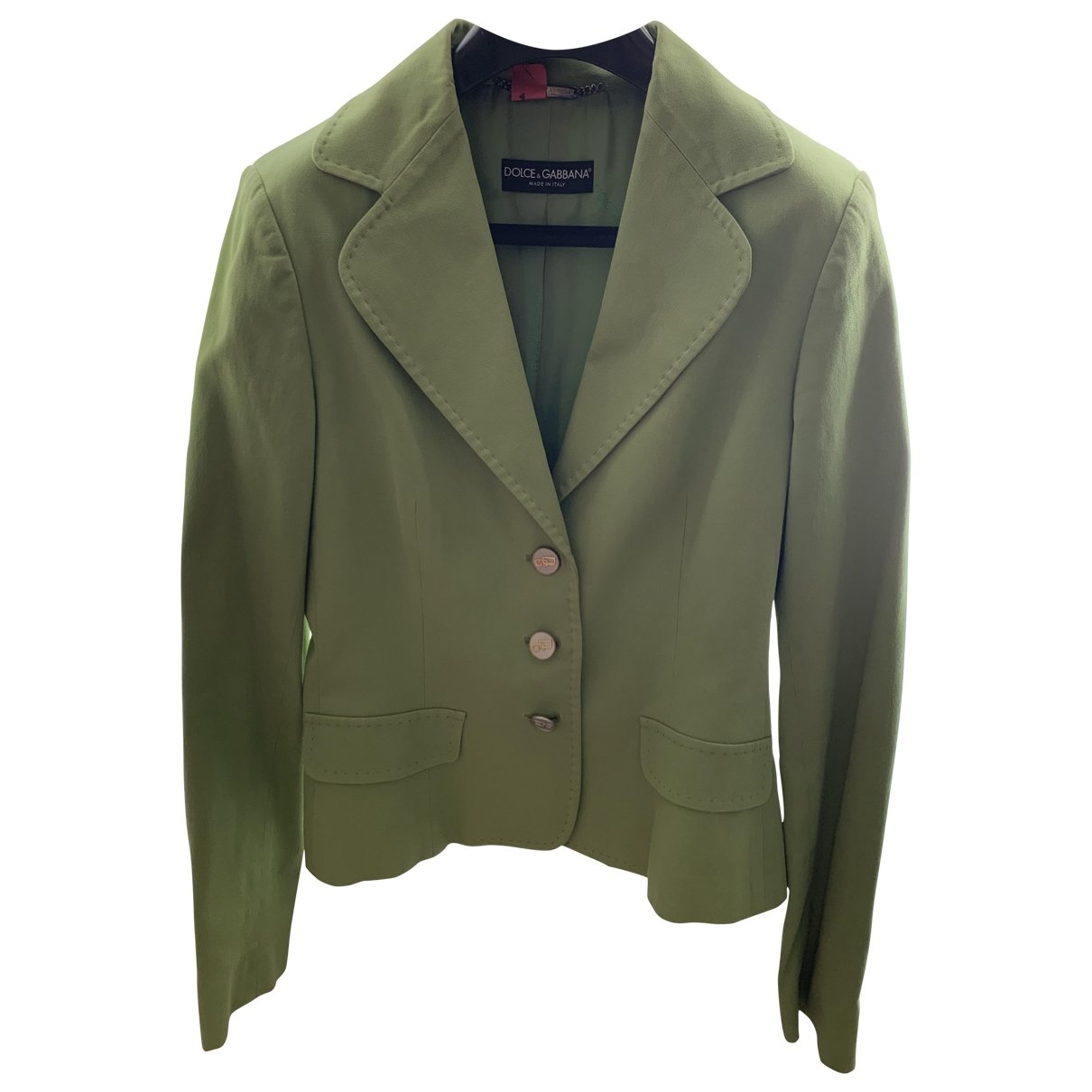 Dolce & Gabbana \N Green Cotton jacket for Women 46 IT