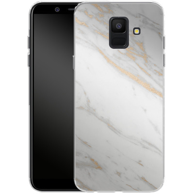 Samsung Galaxy A6 Silikon Handyhuelle - Gold Marble Elegance von #basic