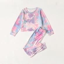 Conjunto de pijama de tie dye