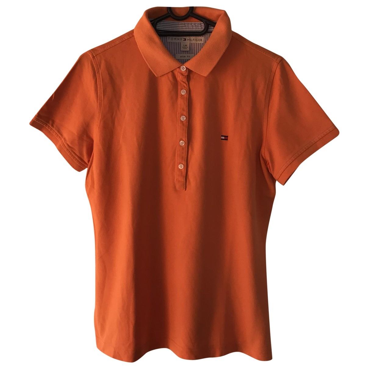 Tommy Hilfiger \N Orange Cotton  top for Women L International