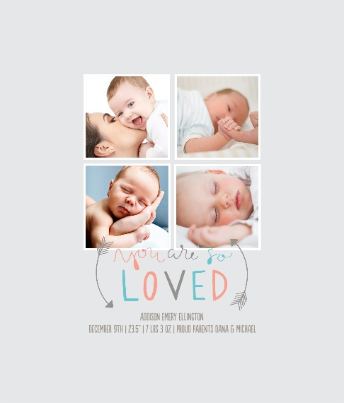 Baby + Kids Framed Canvas Print, Black, 8x10, Home Décor -So Loved