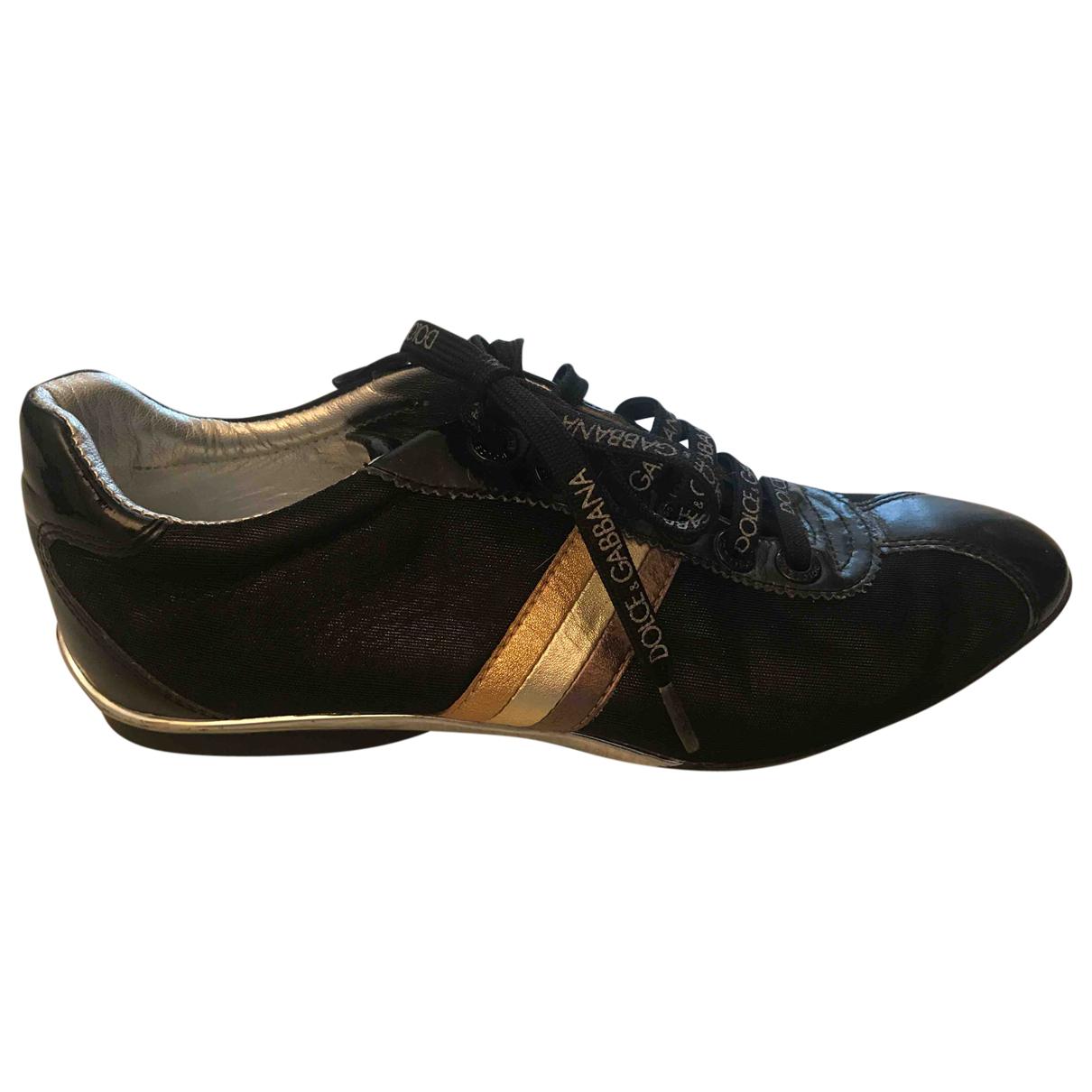Dolce & Gabbana \N Sneakers in  Schwarz Polyester