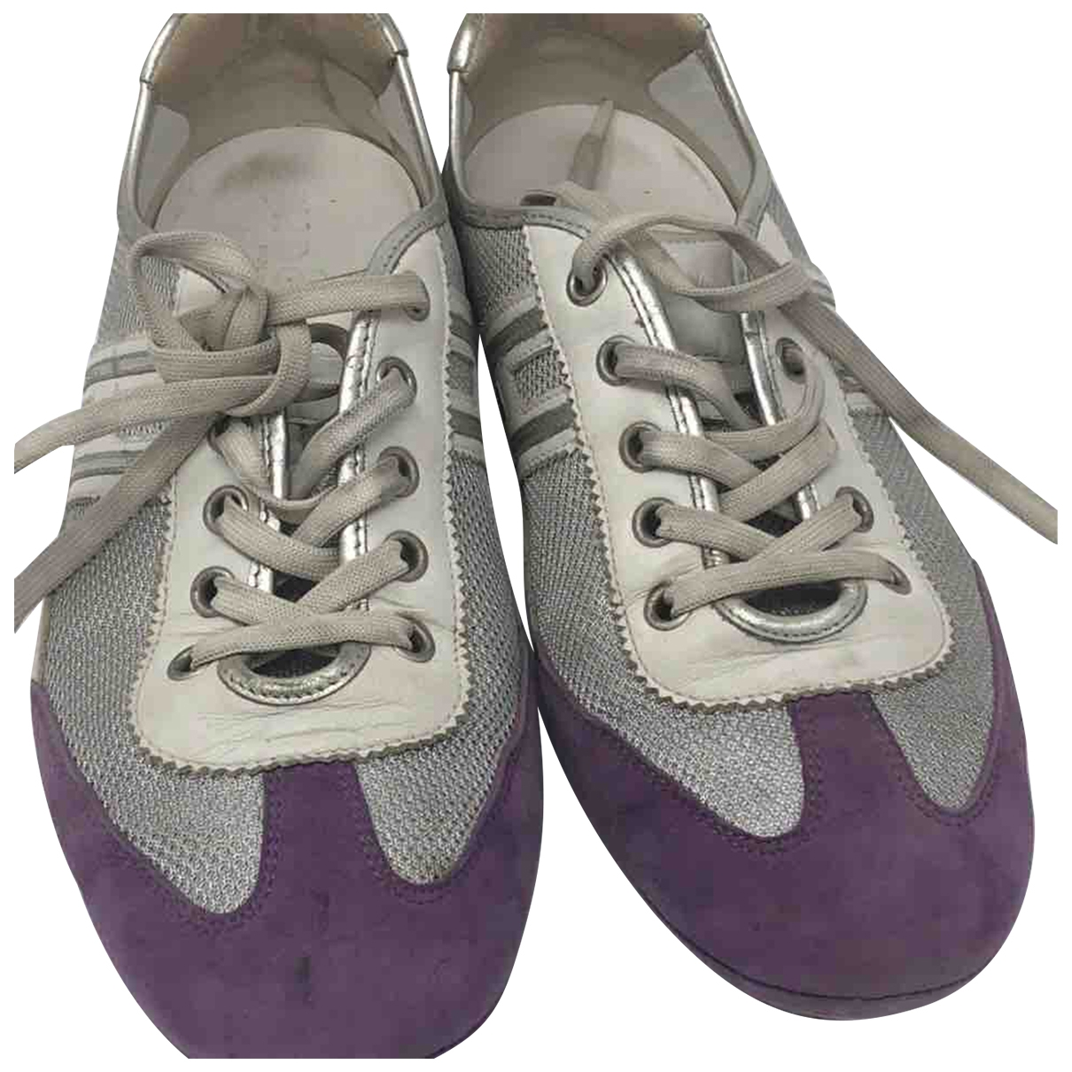 Hogan \N Purple Leather Trainers for Women 38.5 IT