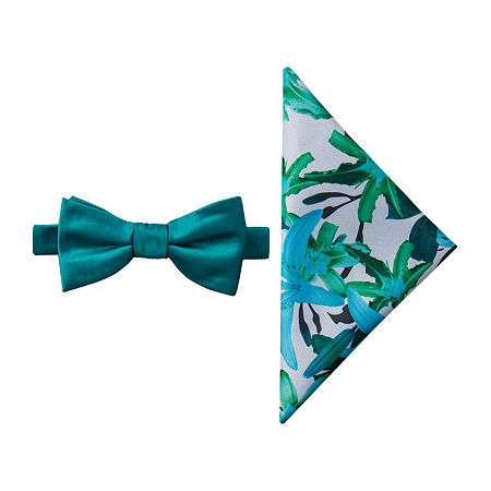 JF J.Ferrar Floral Bow Tie Set, One Size , Blue