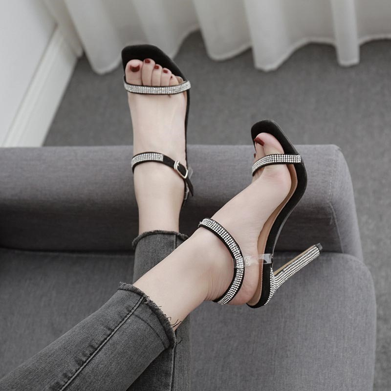 Ericdress Buckle Stiletto Heel Open Toe Western Sandals