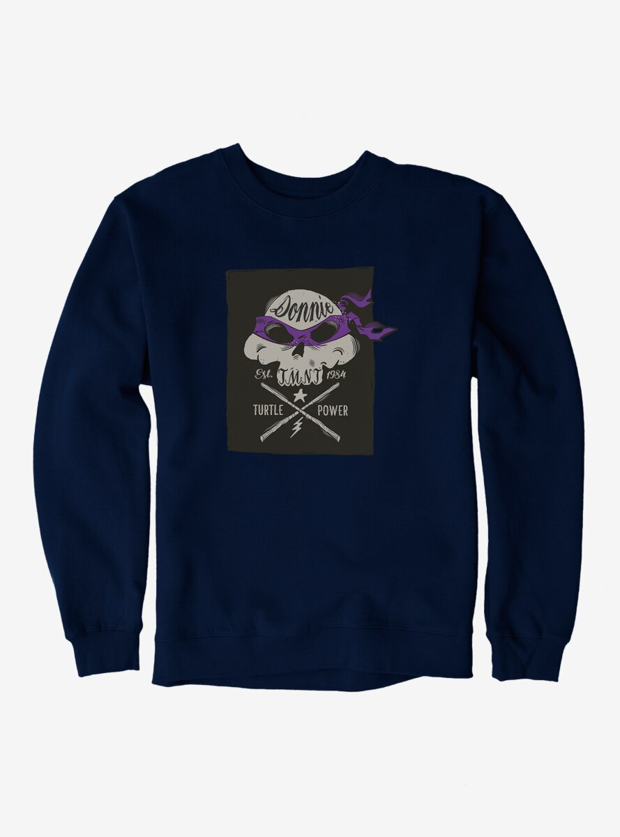 Teenage Mutant Ninja Turtles Donatello Bandana Skull And Weapons Sweatshirt