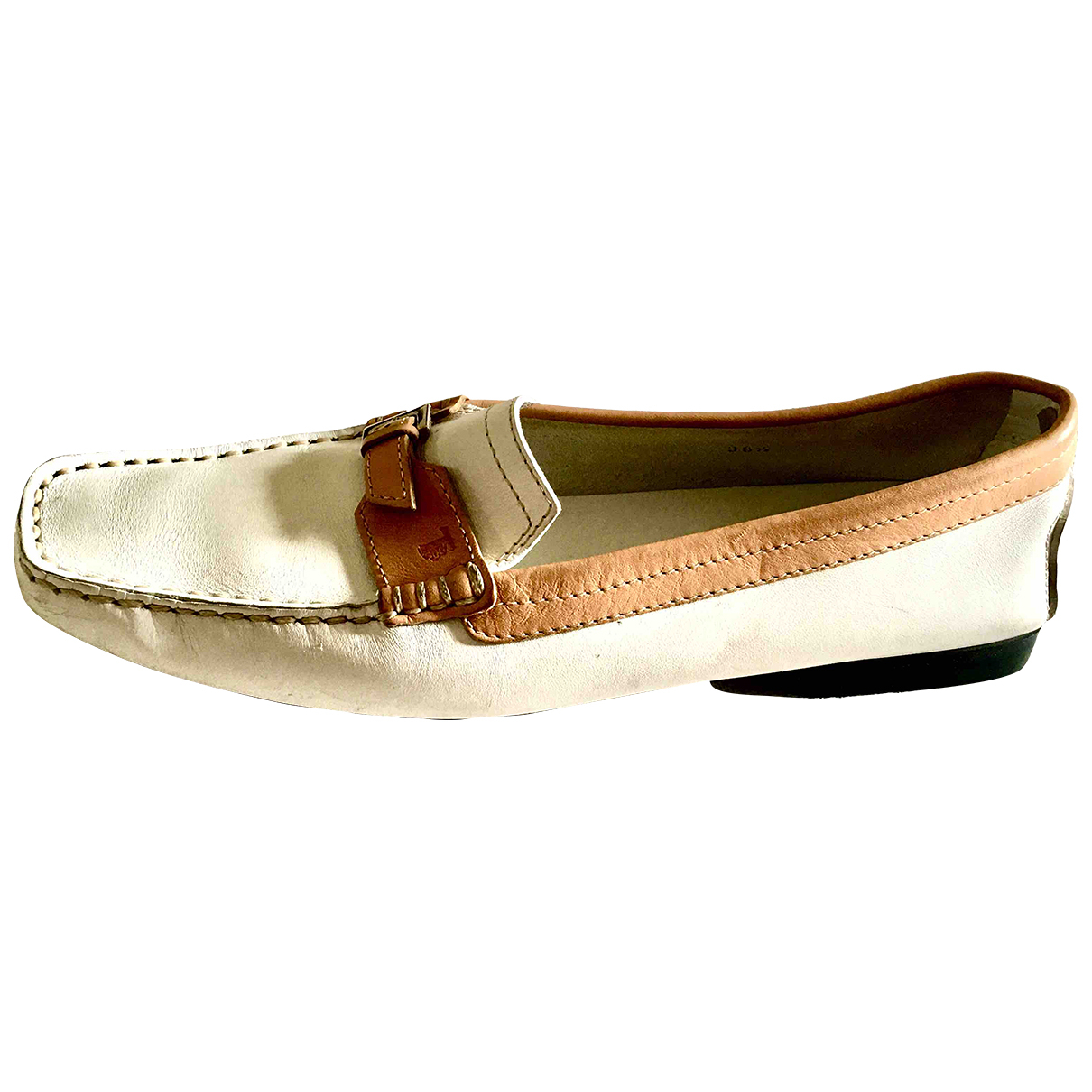 Tod's \N White Leather Flats for Women 38.5 EU