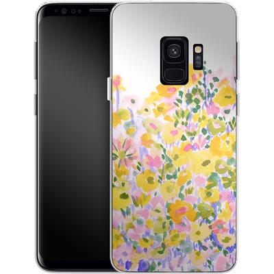 Samsung Galaxy S9 Silikon Handyhuelle - Flower Fields Sunshine von Amy Sia