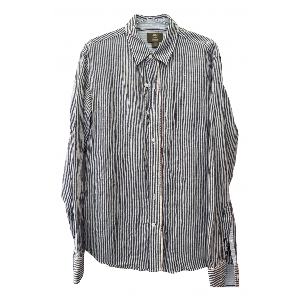 Timberland \N Blue Cotton Shirts for Men S International