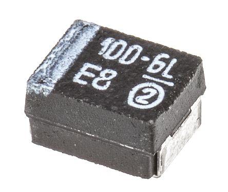 Vishay Tantalum Capacitor 100μF 6.3V dc MnO2 Solid ±10% Tolerance , TR3 (10)