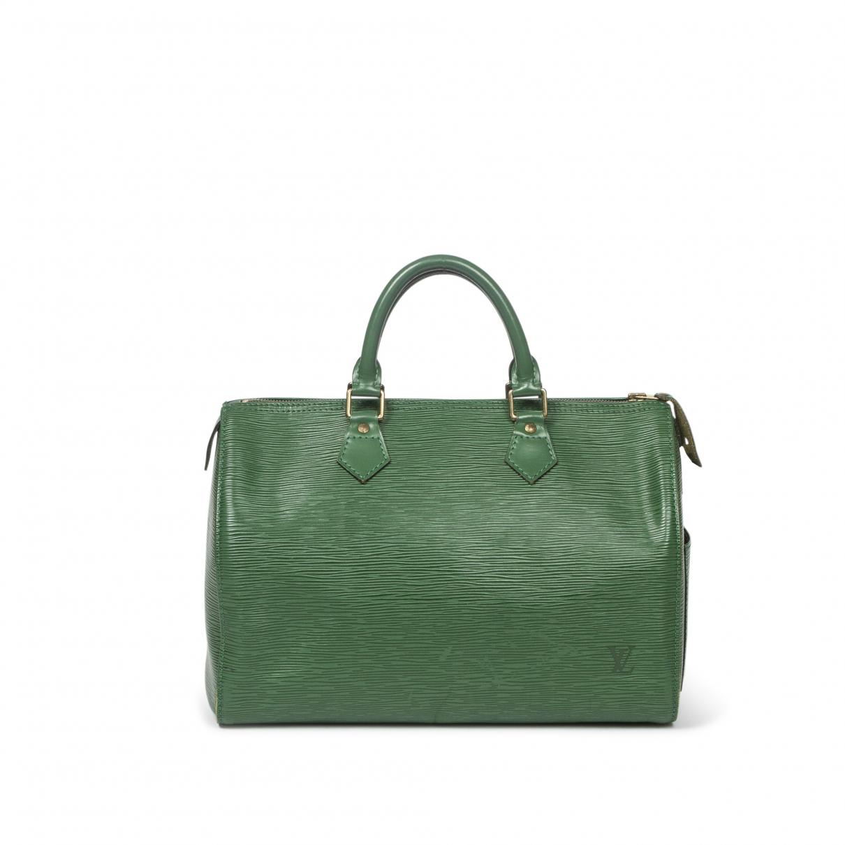 Louis Vuitton \N Handtasche in  Gruen Leder