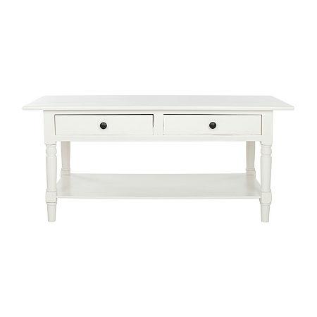 Boris 2-Drawer Coffee Table, One Size , White