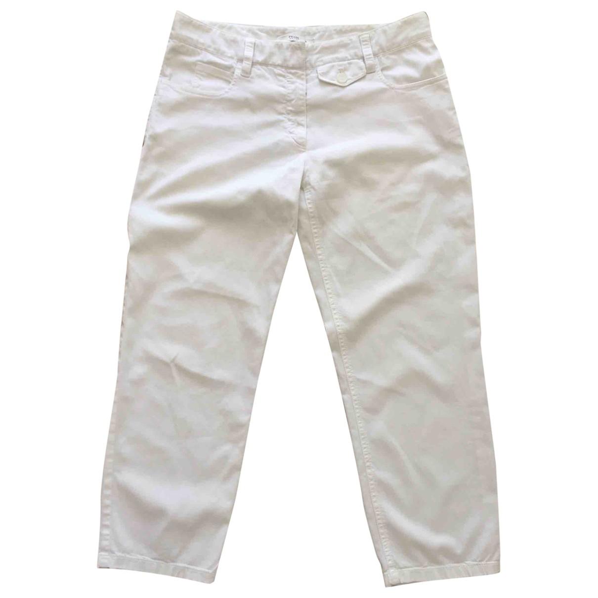 Prada \N White Cotton Trousers for Women XS International