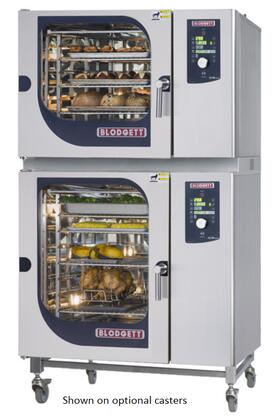 BCM62102E Double Stack Electric Boiler based Combination-Oven/Steamer with Dial and Digital controls  Reversible 9 speed fan  Up to 50 recipe