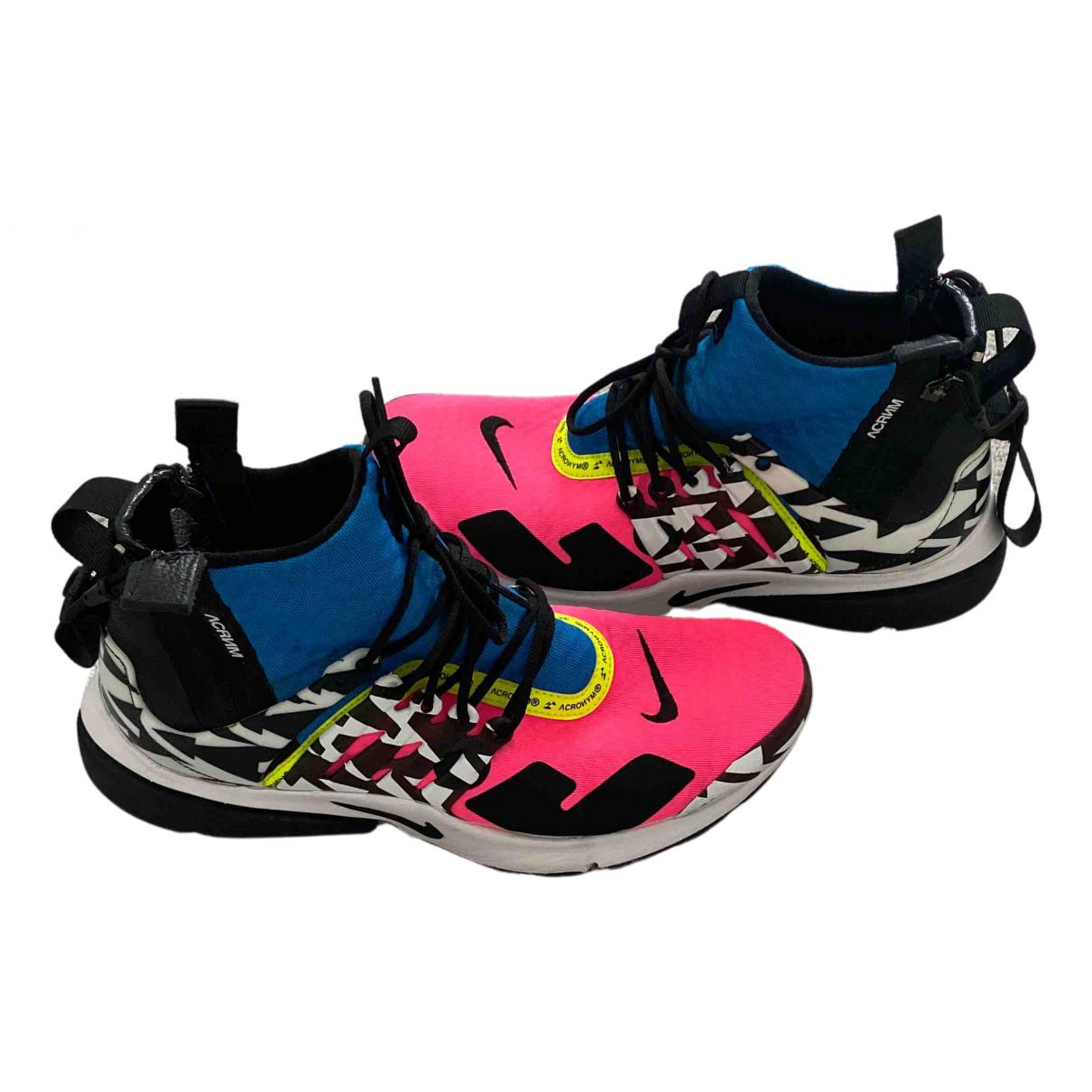 Nike X Acronym Air Presto Sneakers in  Bunt Leinen