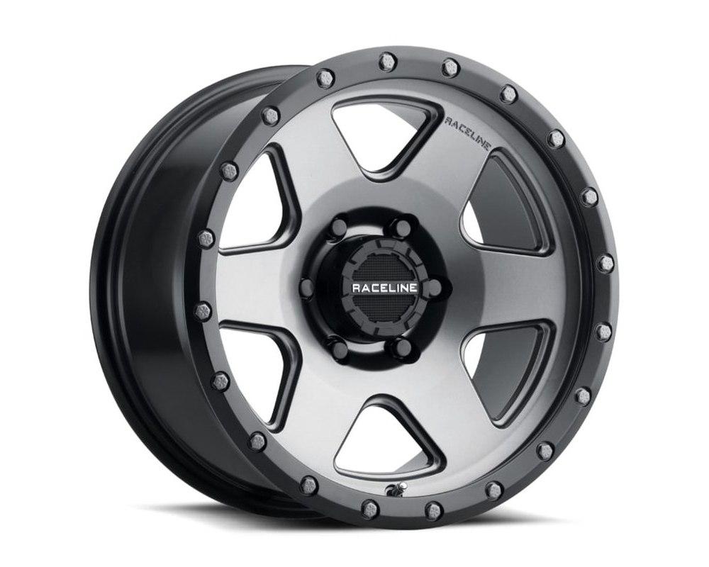 Raceline 946G Boost Gunmetal w/ Black Lip Wheel 20X9 8X170 -12mm