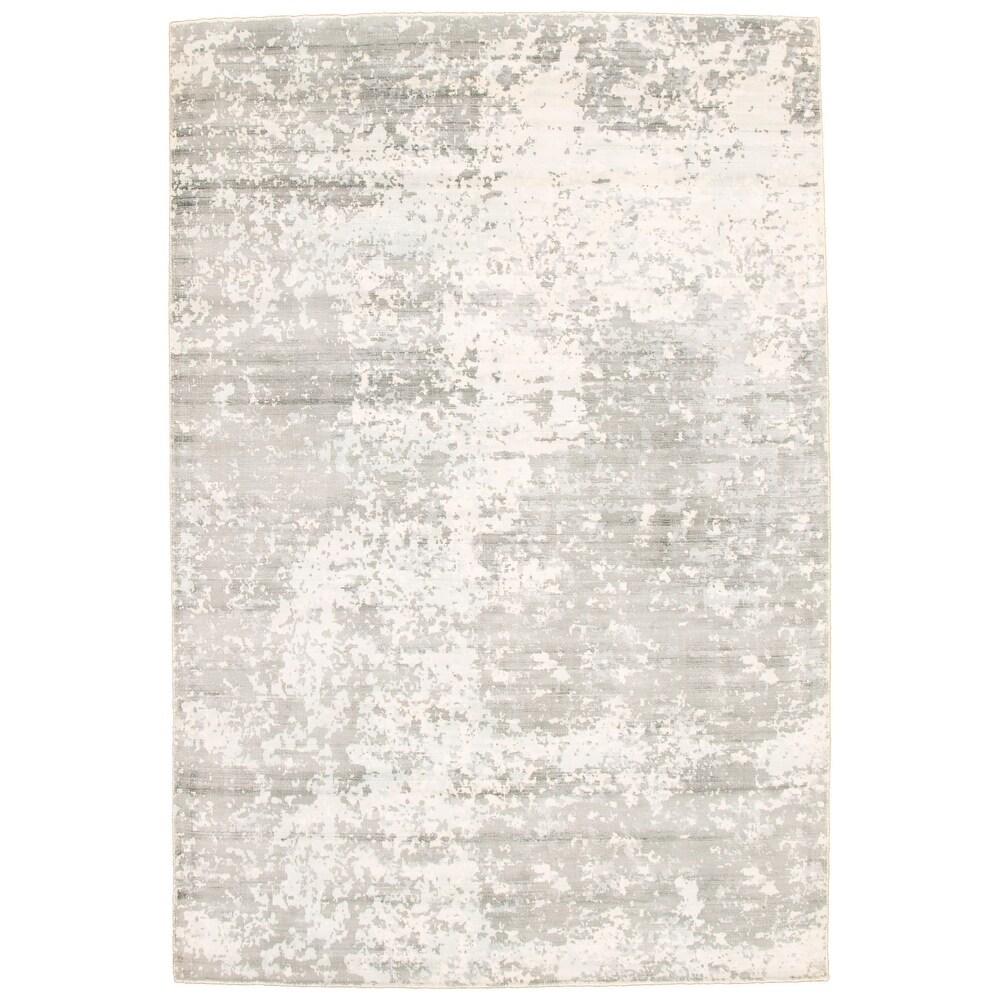 ECARPETGALLERY  Hand Tufted Galleria Grey Viscose Rug - 6'6 x 9'8 (Grey - 6'6 x 9'8)