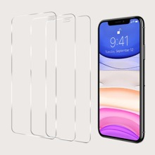 3pcs iPhone Full Coverage Tempered Glass Film