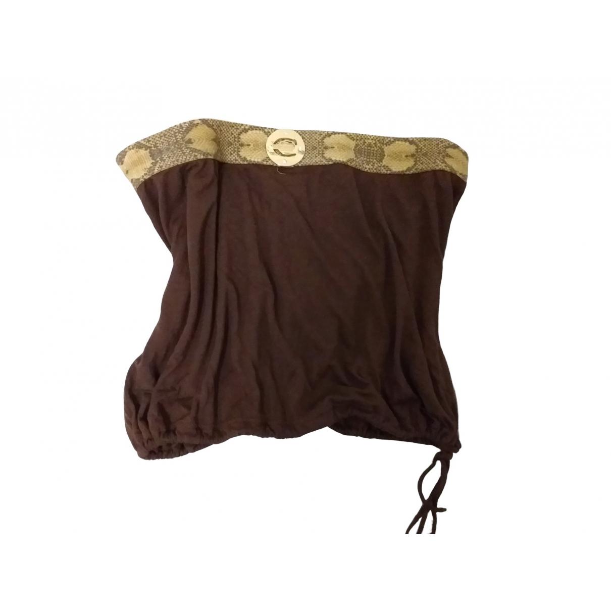 Just Cavalli - Top   pour femme en coton - marron