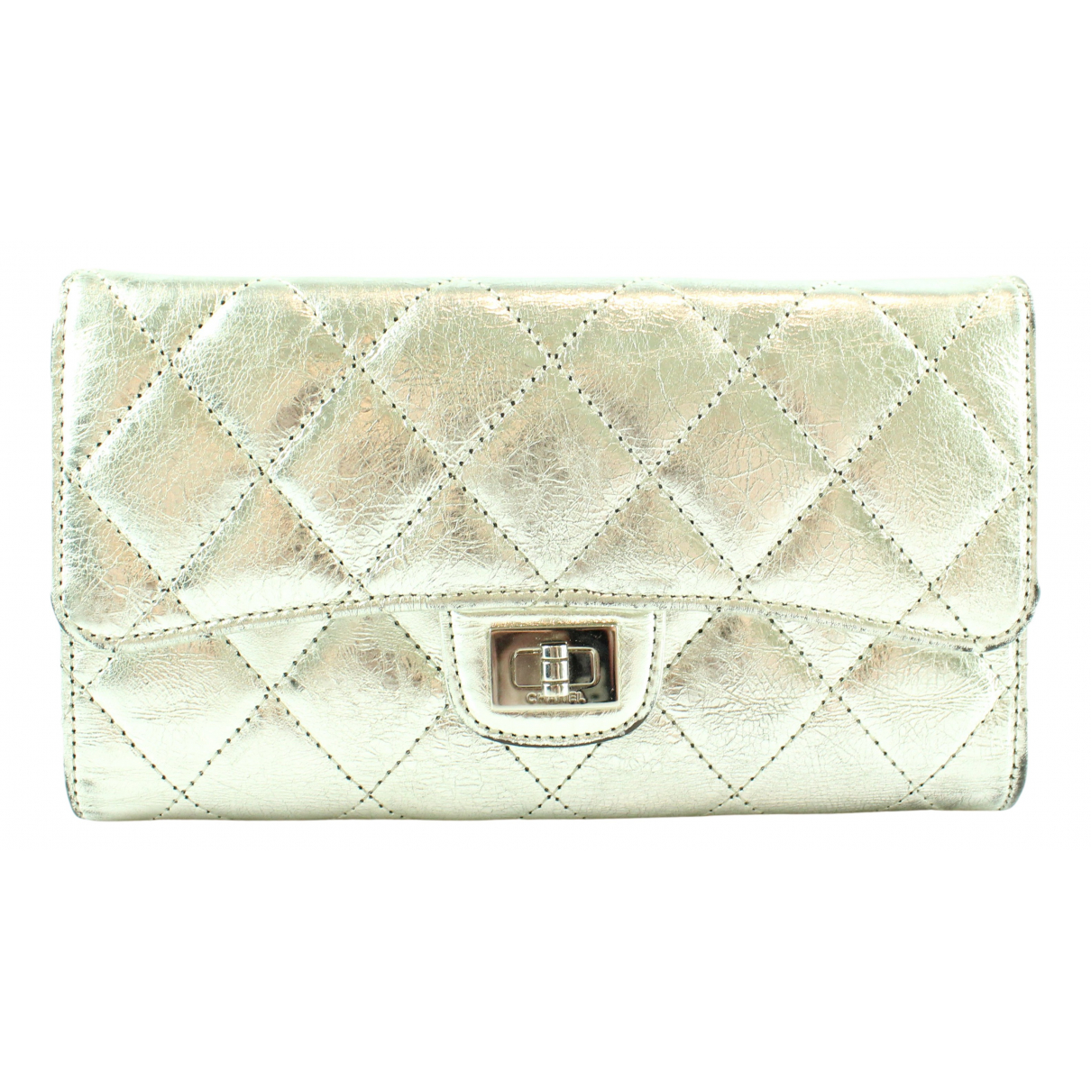 Chanel 2.55 Silver Leather wallet for Women N