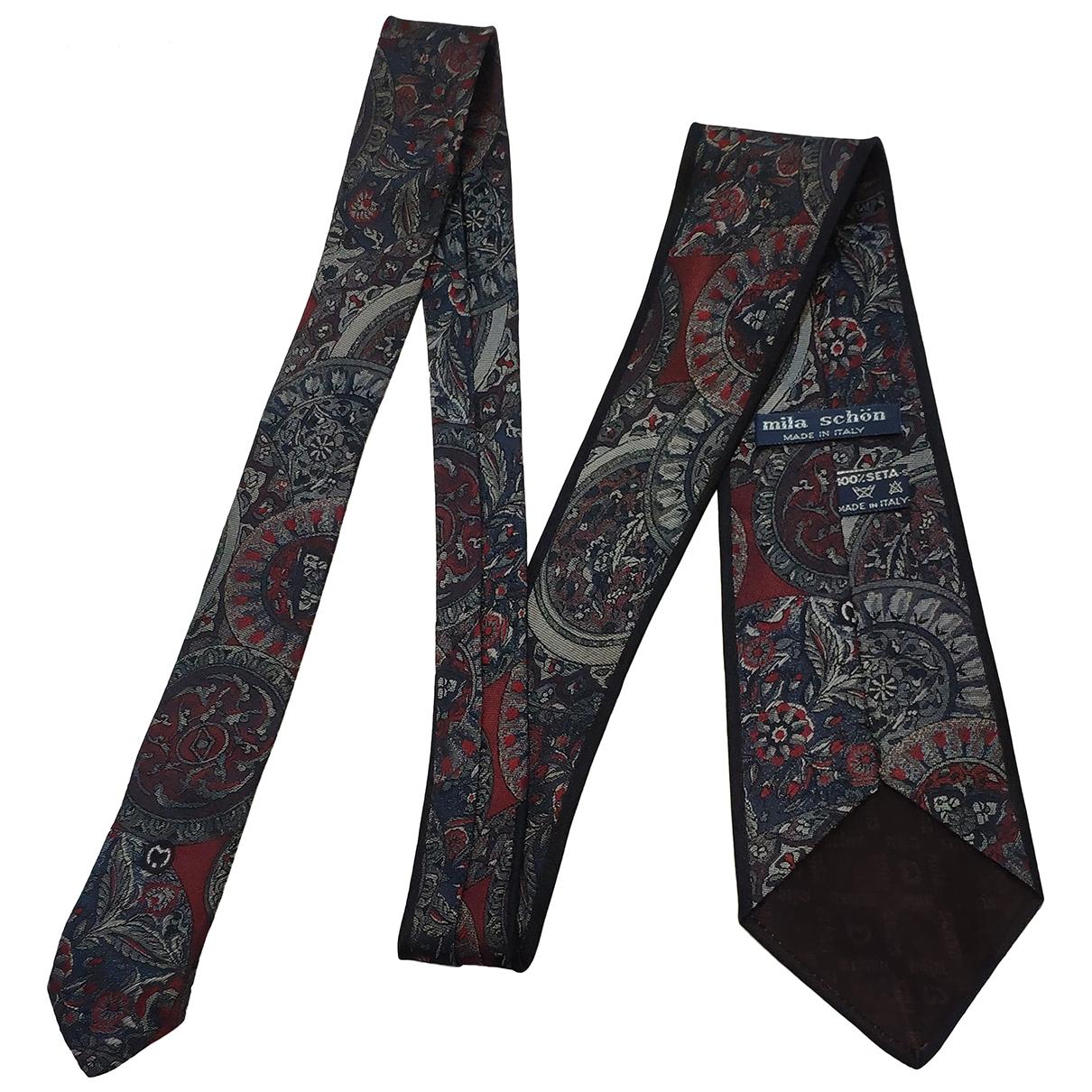 Mila Schon Concept - Cravates   pour homme en soie - rouge