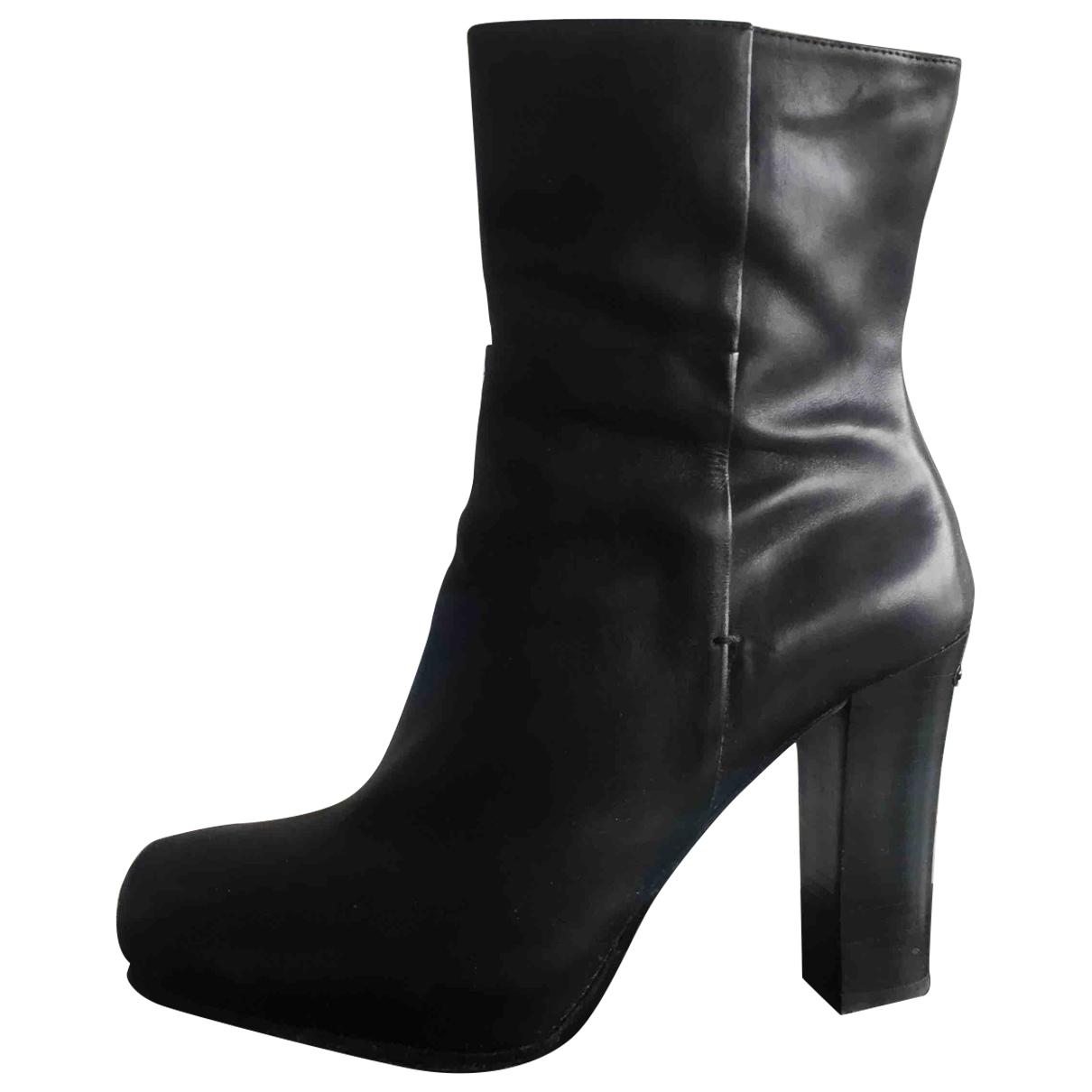 Liu.jo - Bottes   pour femme en cuir - noir