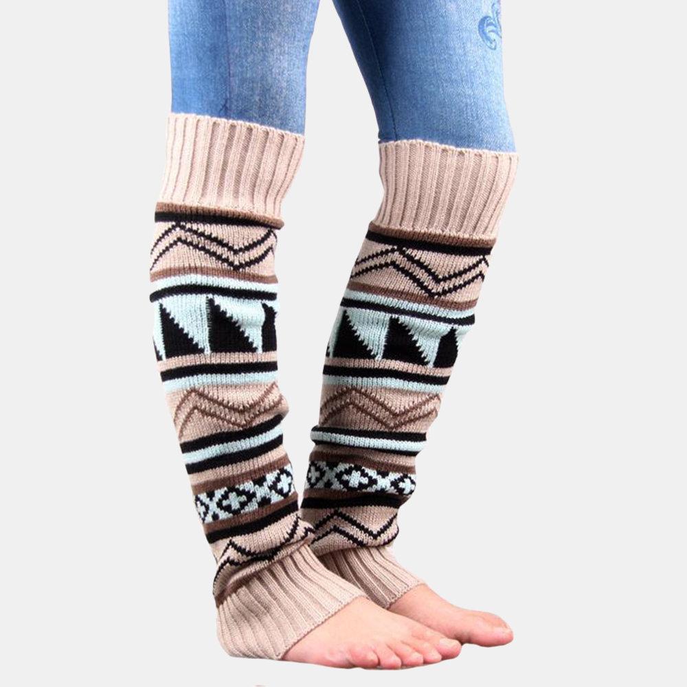 Women's Camouflage Thick Wool Socks Female Print Compression Socks