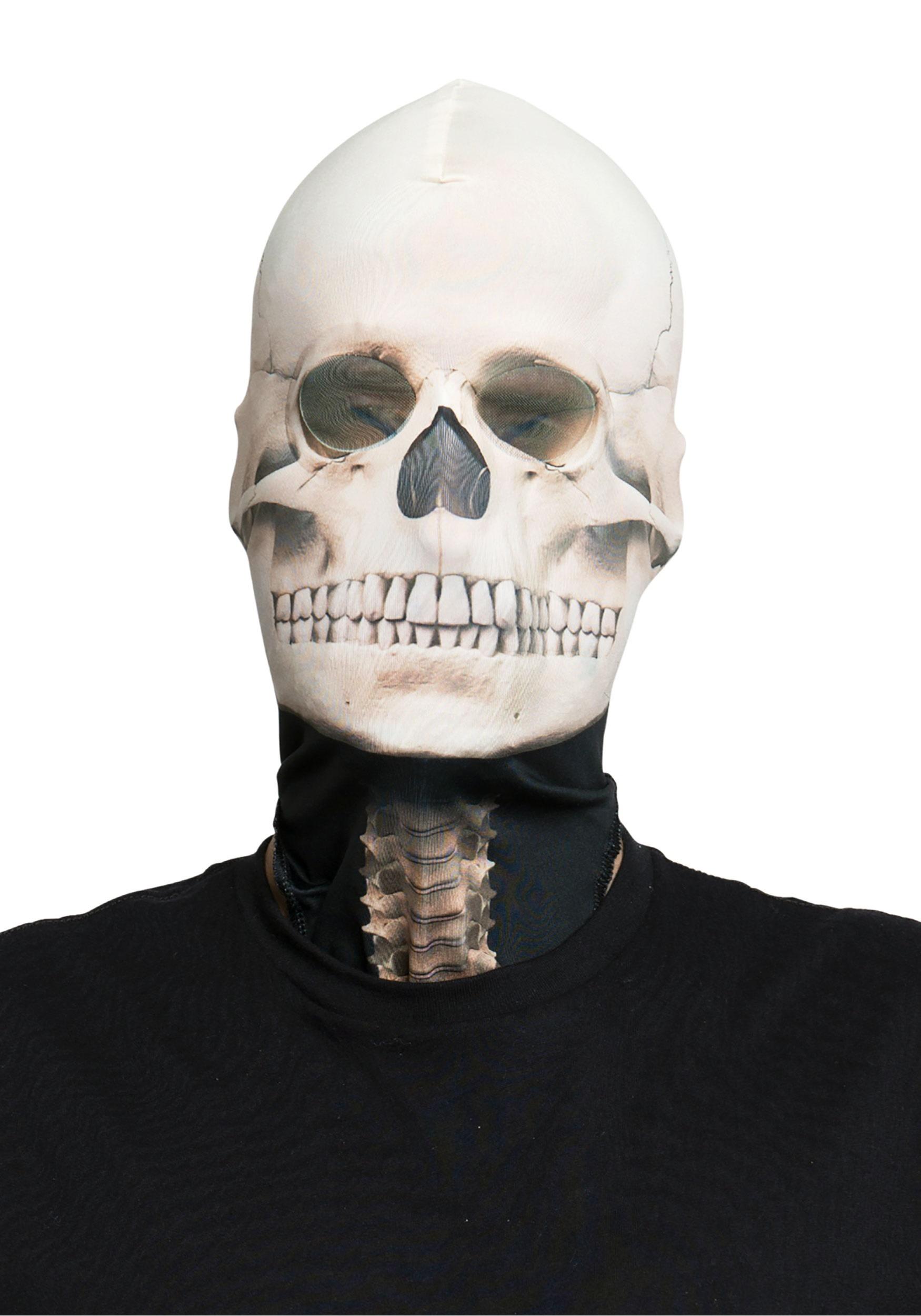 Fabric Adult Skeleton Mask