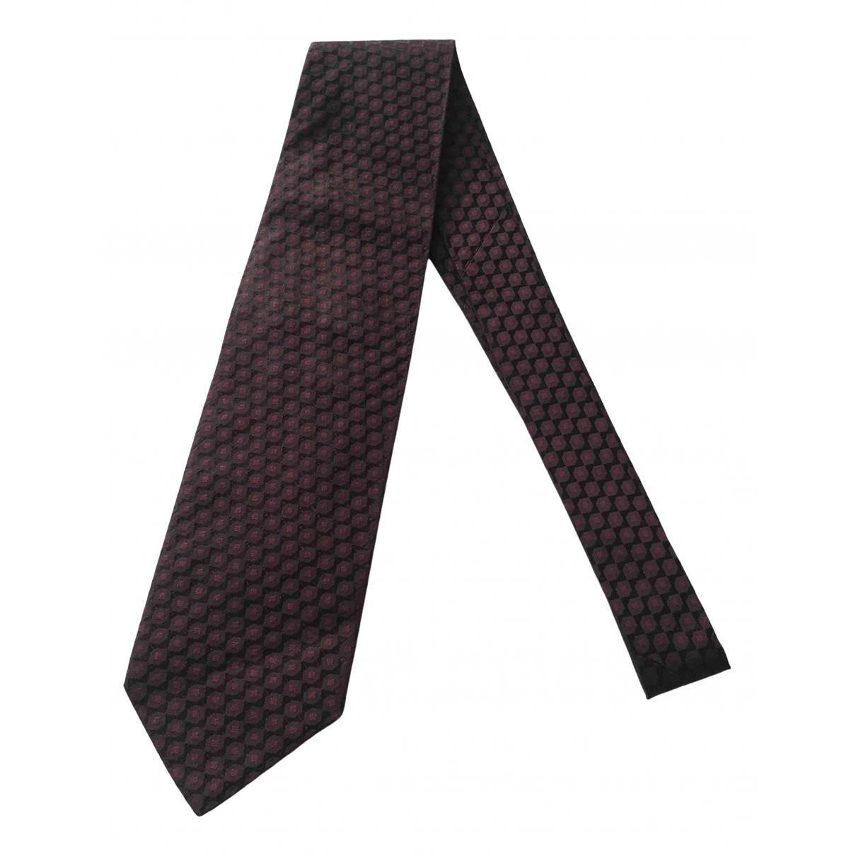 Hugo Boss - Cravates   pour homme en soie - bordeaux
