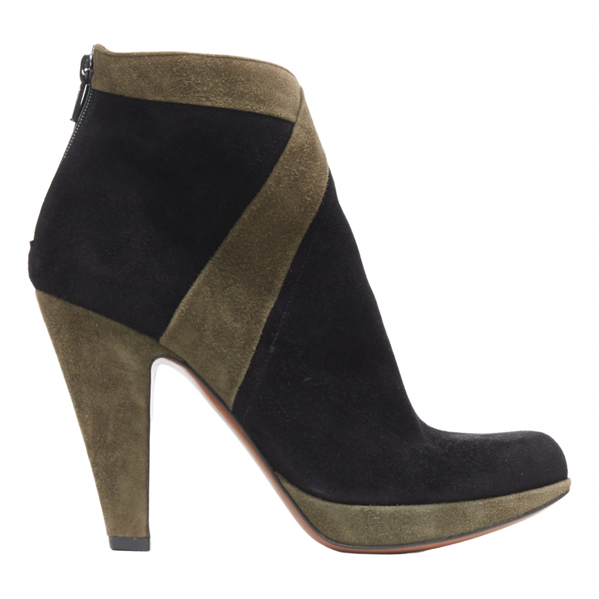 Alaïa \N Black Suede Ankle boots for Women 36 EU