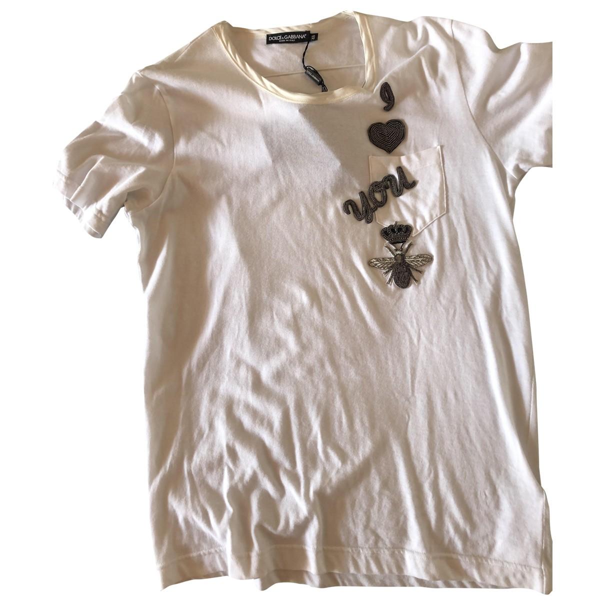 Dolce & Gabbana - Tee shirts   pour homme en coton - blanc