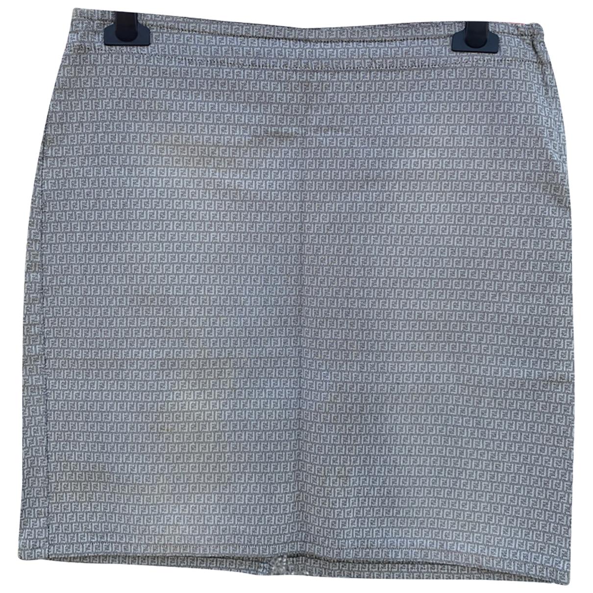 Fendi - Jupe   pour femme en coton - gris