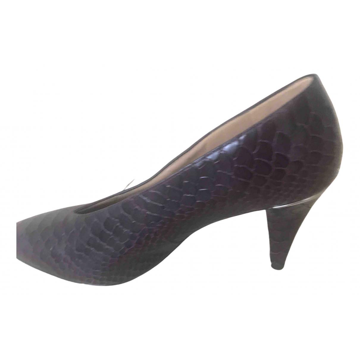 Michael Kors - Escarpins   pour femme en cuir - bordeaux