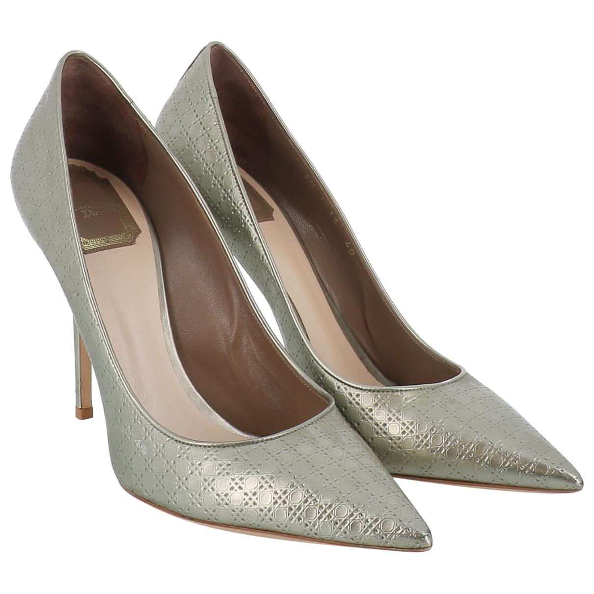 Dior - Escarpins   pour femme en cuir - argente