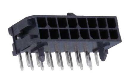 Molex , Micro-Fit 3.0, 43045, 16 Way, 2 Row, Right Angle PCB Header (5)