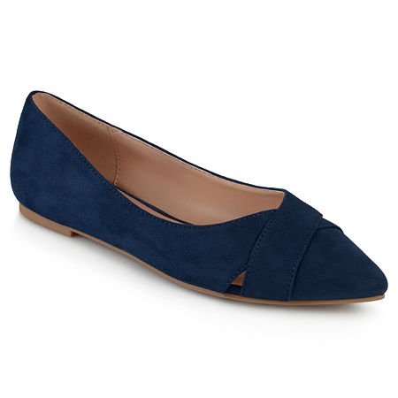 Journee Collection Womens Winslo Ballet Flats, 7 1/2 Medium, Blue