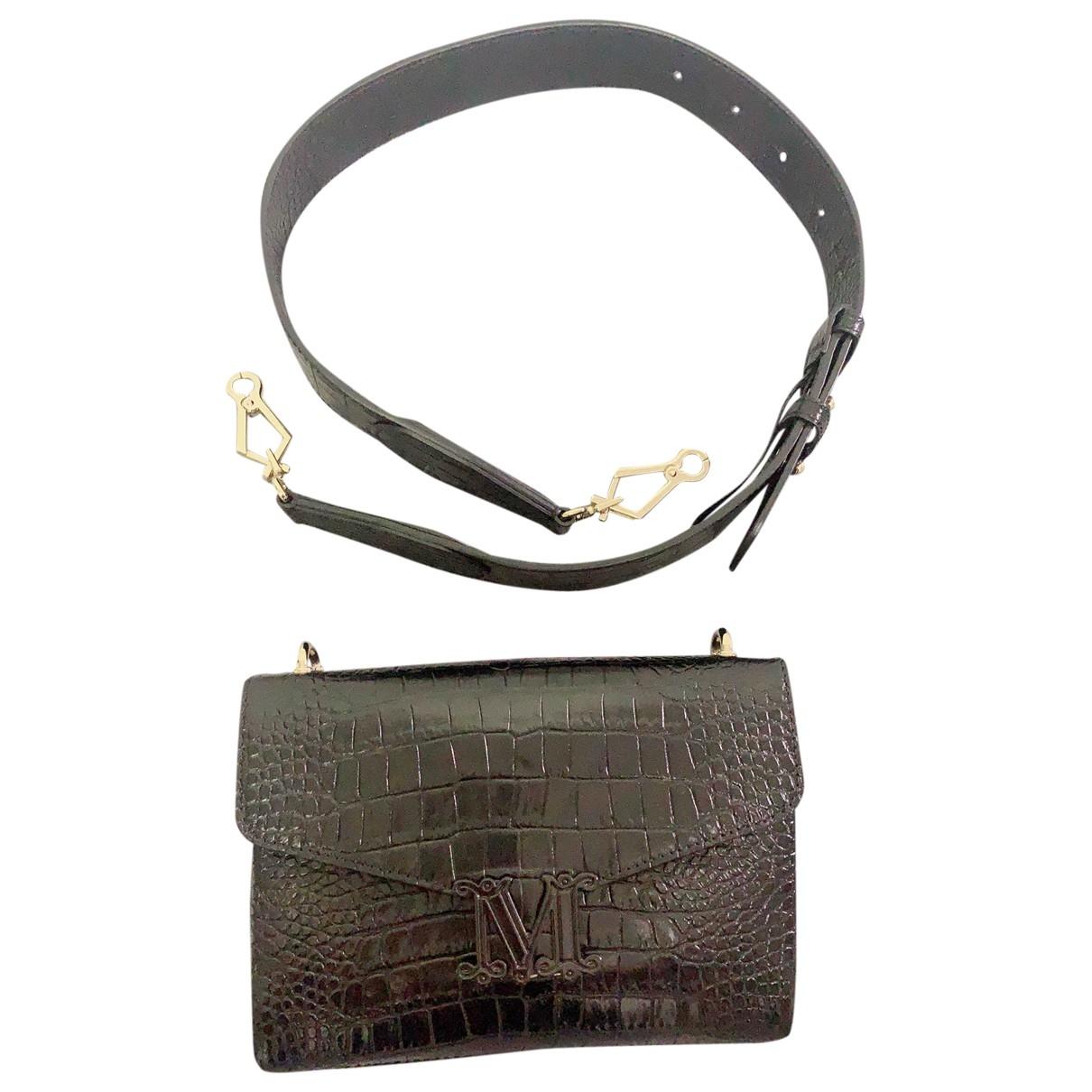 Max Mara \N Black Leather Clutch bag for Women \N