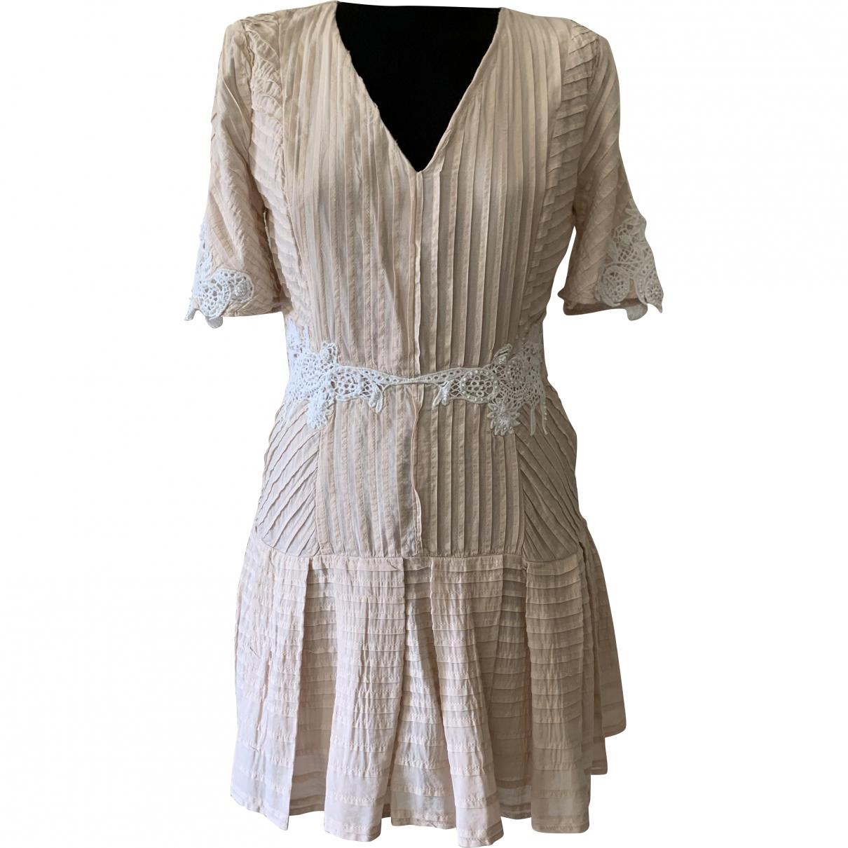 Free People \N Kleid in  Beige Baumwolle