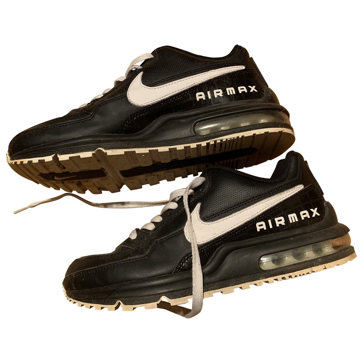 Nike Air Max  Black Leather Trainers for Women 38 EU