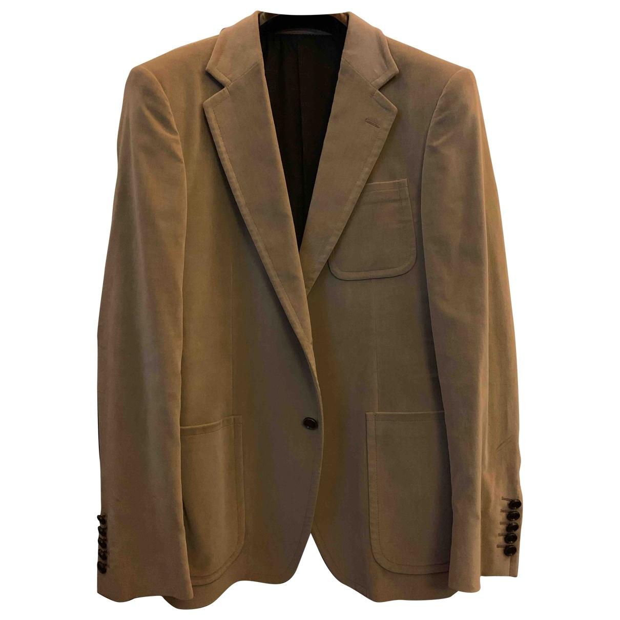 Gucci \N Beige Velvet jacket  for Men 48 IT