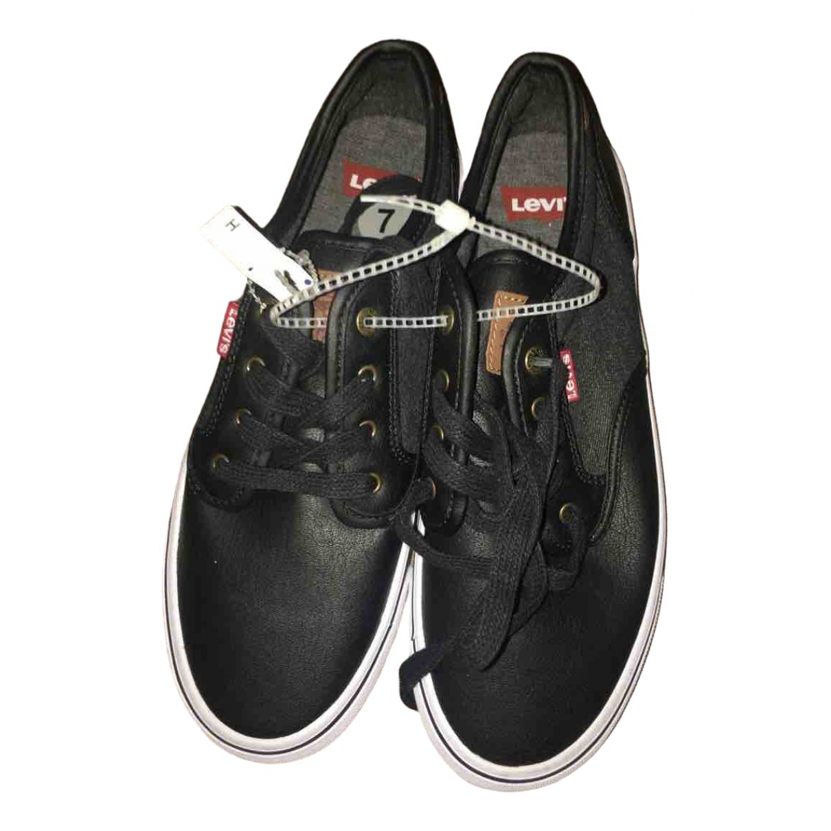 Levi's \N Black Leather Trainers for Women 7.5 US