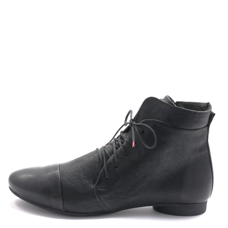 Think, 000004 Women's Lace-up Bootees, black Größe 38,5