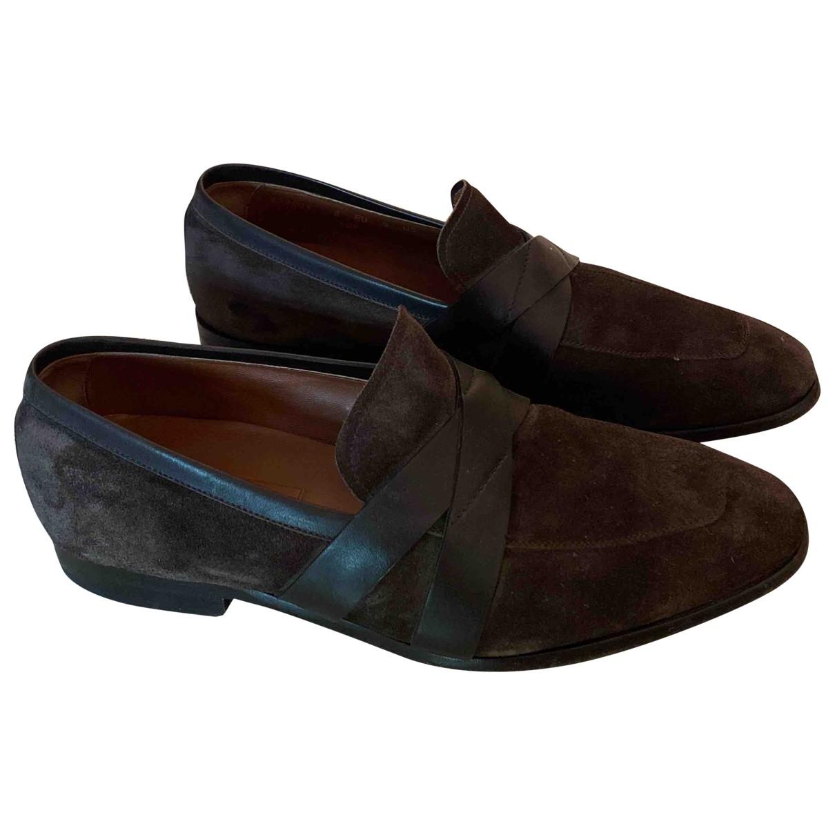 Ermenegildo Zegna \N Brown Suede Flats for Men 8 UK