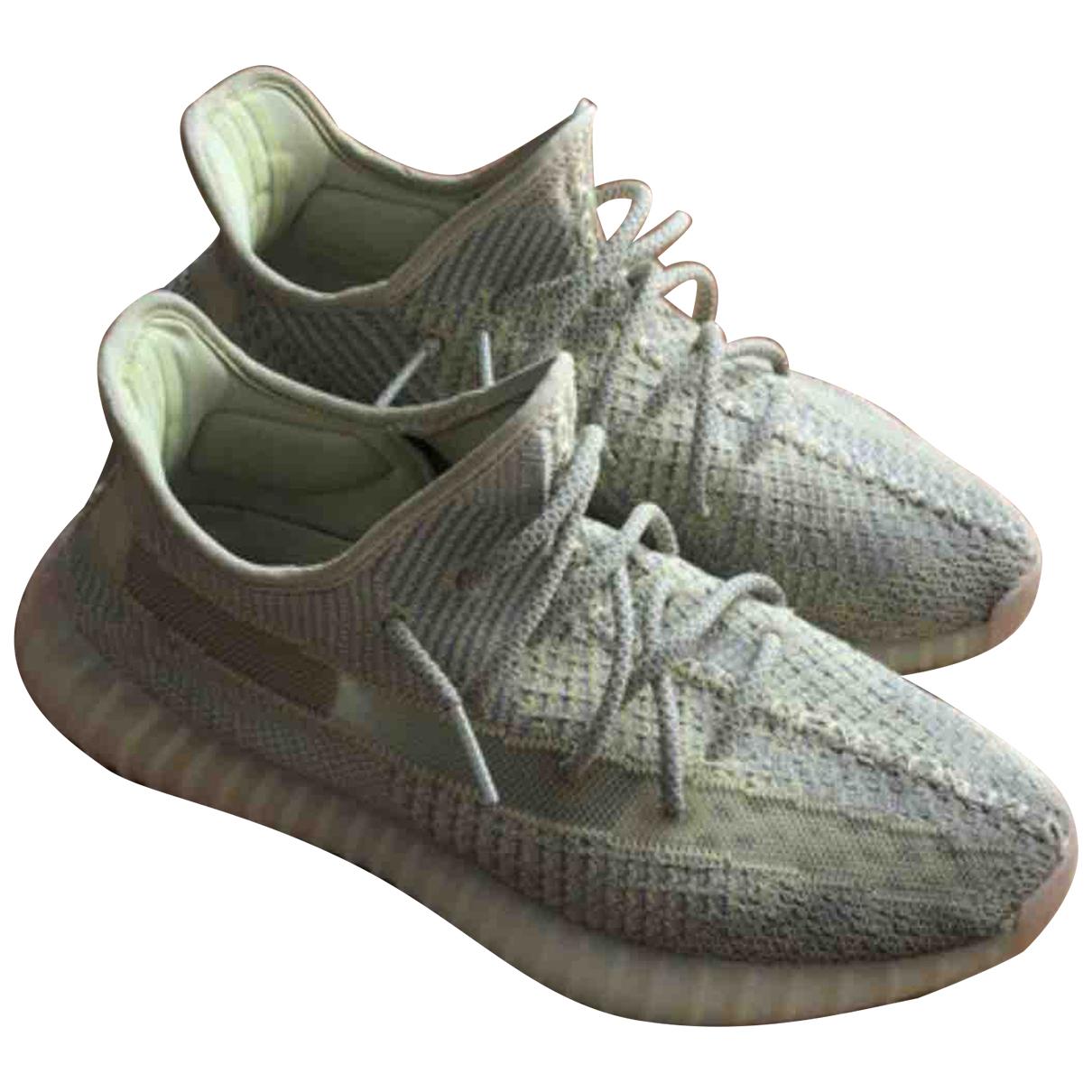 Yeezy X Adidas Boost 350 V2 Sneakers in  Gelb Leinen