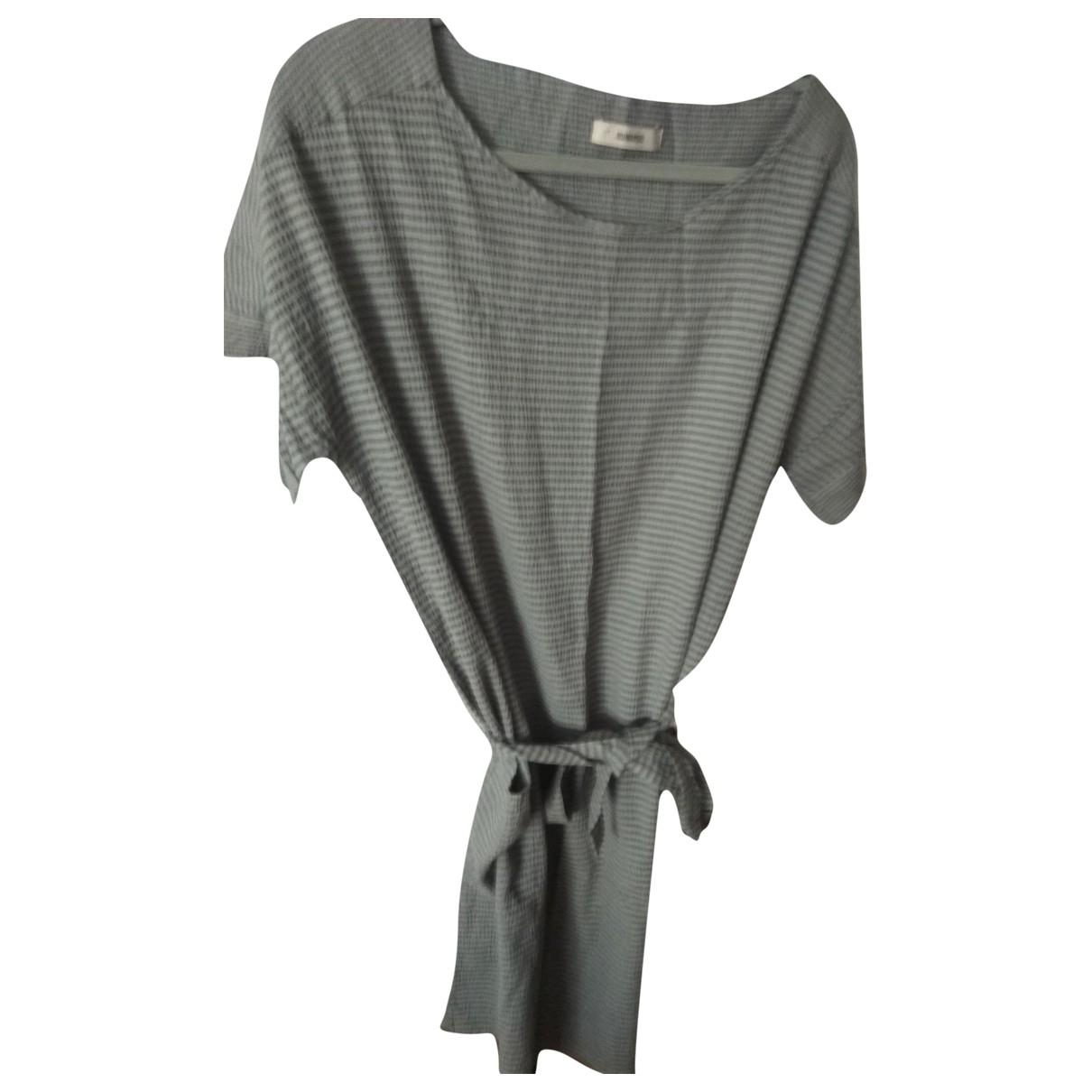 Humanoid \N Kleid in  Grau Baumwolle - Elasthan
