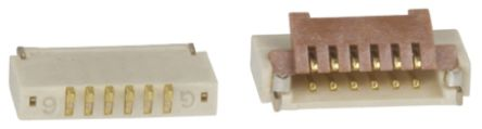 Hirose FH19 0.5mm Pitch 6 Way Right Angle SMT Female FPC Connector, ZIF Bottom Contact (5)