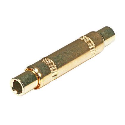 Coupleur métallique 6.35mm TRS femelle vers 6.35mm TRS mâle, plaqué or -Monoprice®