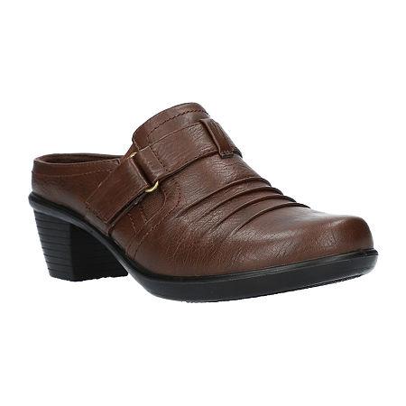 Easy Street Womens Mena Mules, 8 Wide, Brown