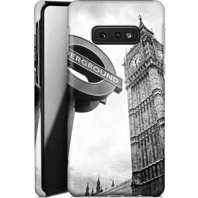 Samsung Galaxy S10e Smartphone Huelle - Big Ben & Underground von Ronya Galka
