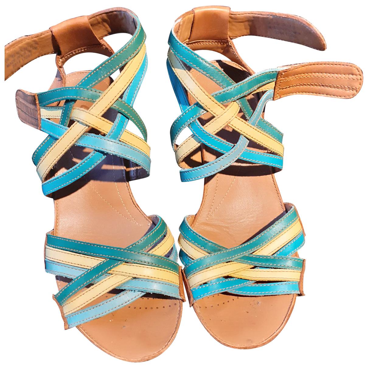 Clarks - Sandales   pour femme en cuir - multicolore